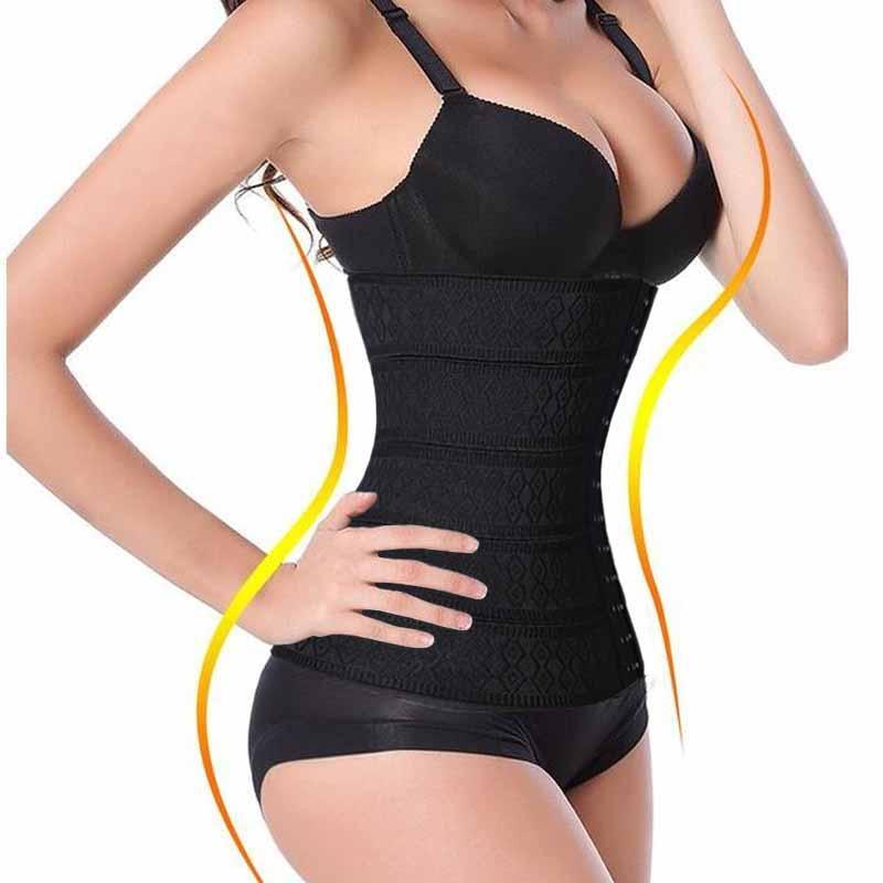 aa2e219a6d656 Wholesale- XS-3XL Women Waist Trainer Hot Body Shaper Slimming Tummy Belt  Waist Cincher Underbust Control Corset And Bustiers Waist Shaper Body  Shaper Waist ...