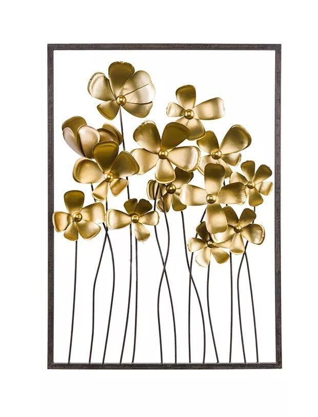 32 Inch Living Room Hotel Metal Wall Decor Metal Wall Flowers Golden Home  Decorations Retro Wall Art Ideas Unique Gifts Catalogs Unique Gifts For Men  From ...