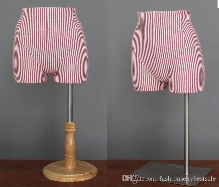 Commercio all'ingrosso di moda 8 stile inferiore del corpo della muffa dell'anca del sacchetto della biancheria del display stand puntelli regolabile cosmetologia cucito-manichino 1 PZ B607