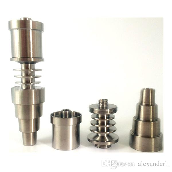 Domeless GR2 titanium Nail para 16 mm / 20 mm D-Nail Enail calentador bobina Carb Cap Kits para ambos hombres de vidrio masculino Water Bong