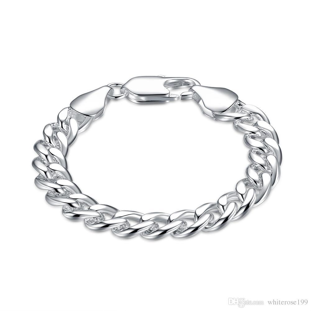 Groothandel - detailhandel laagste prijs kerstcadeau, gratis verzending, nieuwe 925 zilveren mode armband B68