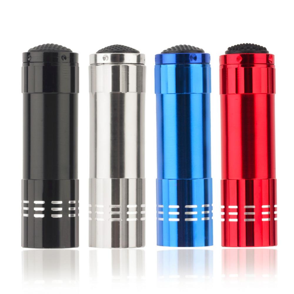 High-Quality Mini Aluminum UV Ultra Violet 9 LED Flashlight Torch Light Lamp Penlight LED Flashlight UV Lamp