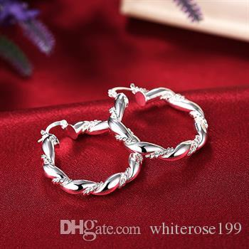 Wholesale  - 最低価格クリスマスギフト925スターリングシルバーファッションイヤリングYE156