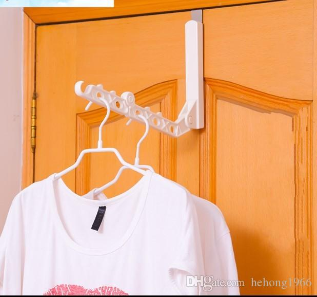 Clothes Rack Foldable Coat Hanger 6 Hole Plastic Hangers Clothing