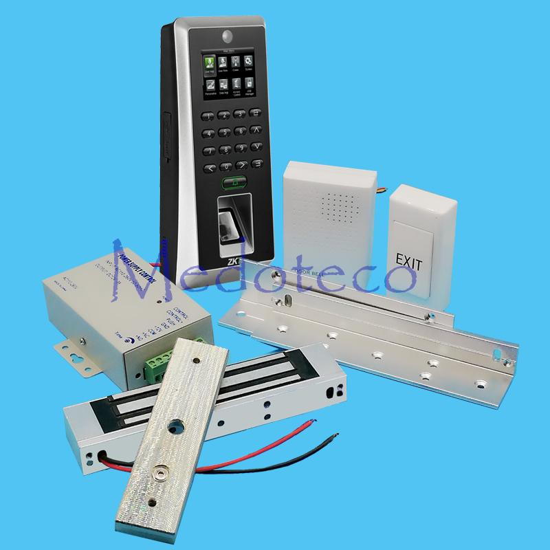 Wholesale- DIY Full Fingerprint Door Access Control System Kit Camera liveID Fingerprint Access Controller +Magnetic Lock + ZL Bracket
