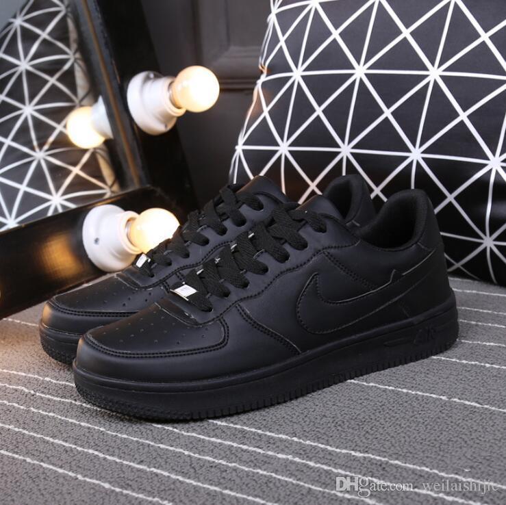 Бесплатная доставка горячей продажи Размер 36-44 2018. Модернизированная версия Новые все белые ботинки мужчин и женщин Модные Повседневная обувь Мода скейт обувь