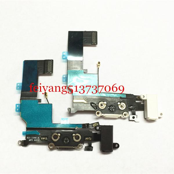 High Quality Charger Dock USB Charging Port Headphone Jack Flex Cable For Iphone 5s by DHL EMS