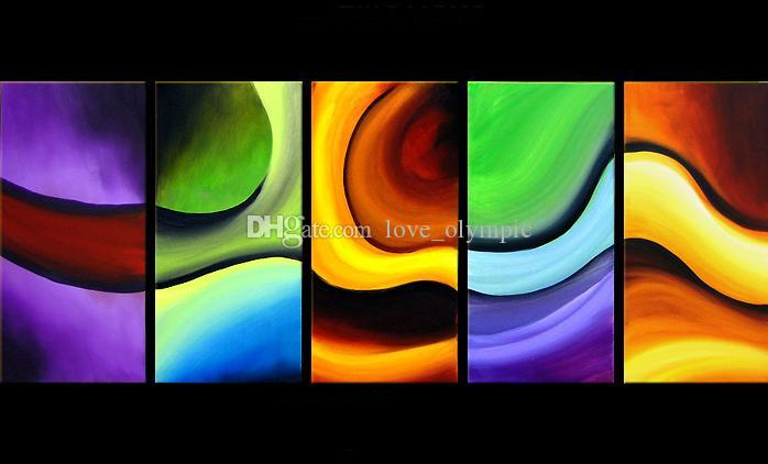 Emoldurado pintados à mão alta flor de ameixa asiática qualidade de pintura a óleo sobre tela parede casa decoração arte moderna abstrata pinturas multi tamanhos - 525