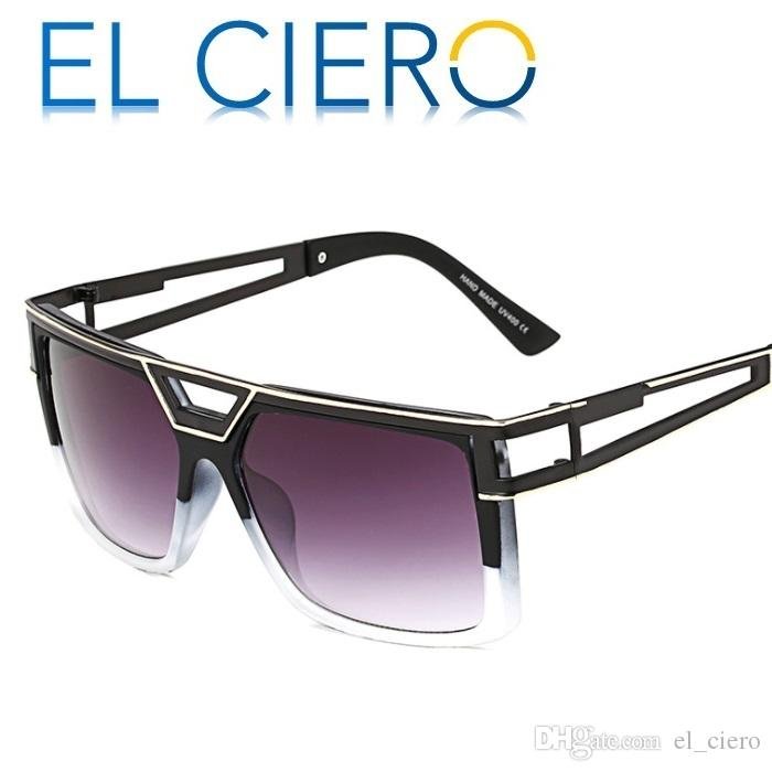 179d7e4404a EL CIERO New Classic Square Sunglasses For Men   Women 2017 Luxury ...