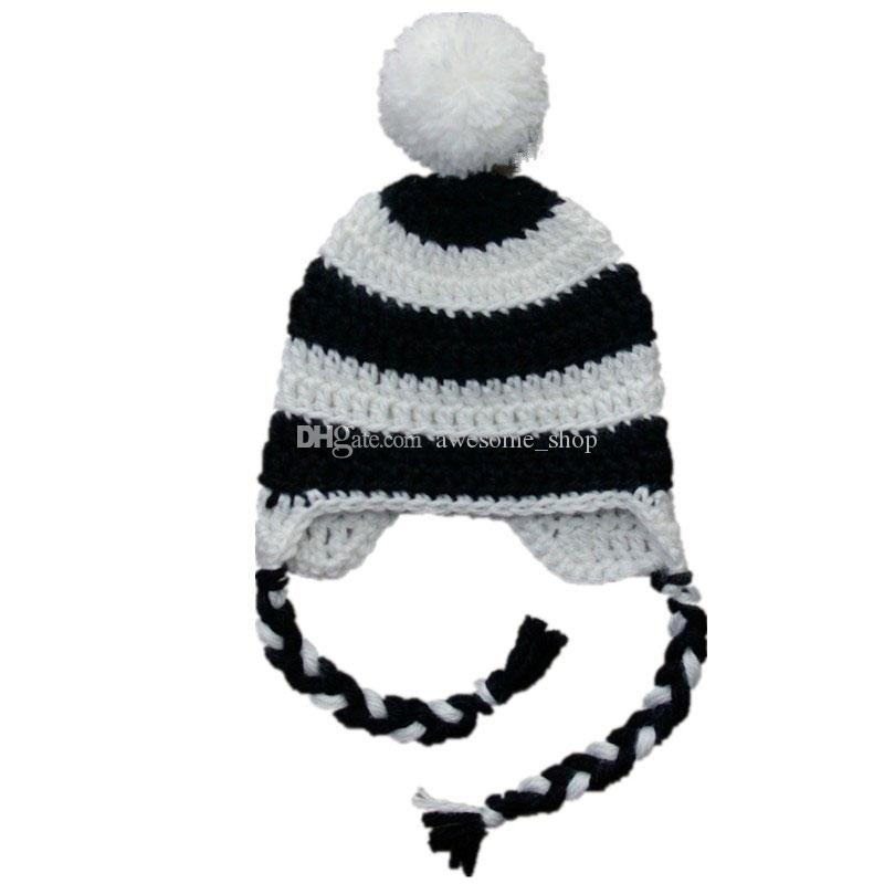 2019 White Black Striped Hat bac9dd49545