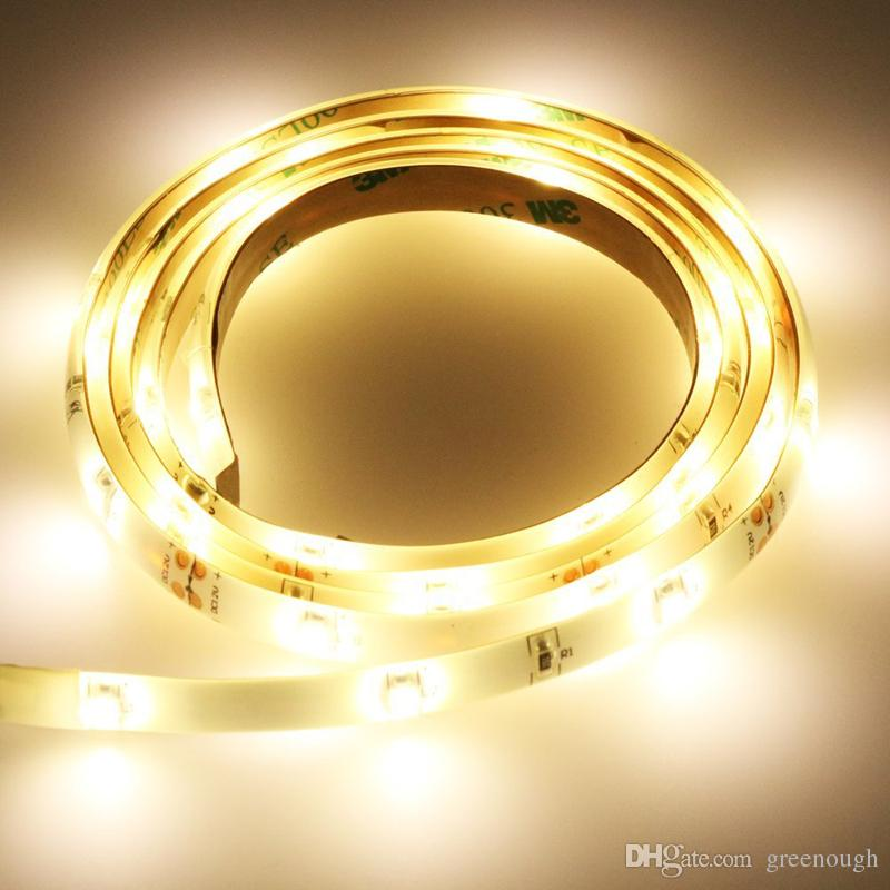 침대 조명 아래 새로운 디자인 모션 센서와 따뜻한 스트립 빛 주도 화이트 스트립 라이트 밤 램프
