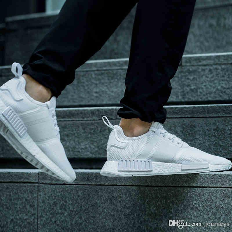 adidas nmd r1 primeknit black and white cheap adidas shoes wholesale