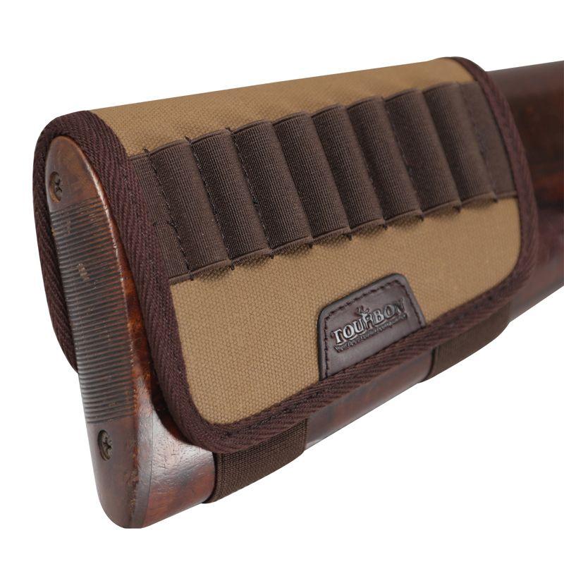 Tourbon التكتيكية الصيد الرماية بندقية بندقية buttstock الخد الراحة 10 خراطيش جولة حامل قماش بندقية زينة