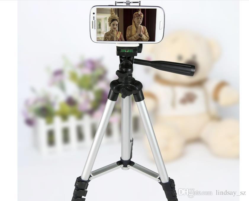 1/4 Vida Dönen Standı Klip Dağı Tutucu Özçekim Sopa Monopod Tripod için Tutucu, evrensel Cep Telefonu Sahipleri Için Standı Iphone 6 kamera