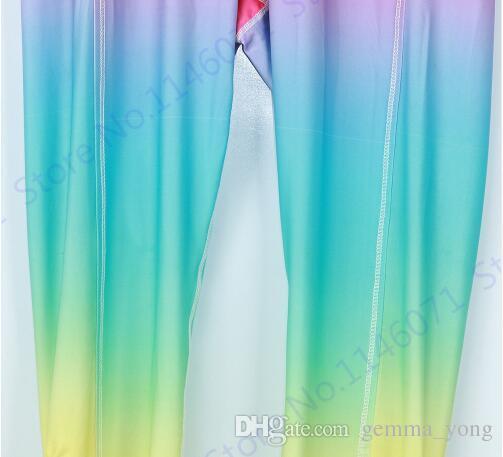 التدرج اللون الباليه لانهائي الإقبال طماق التخسيس عالية الخصر اليوغا capris السراويل الرقص الروح ضمادة نحيل الجوارب النسائية