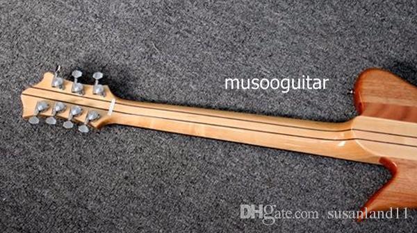 Yeni Marka Elektrikli Yarı Hollow vücut kilitleme tuner Ile 7 Dize Gitar boyun-thru