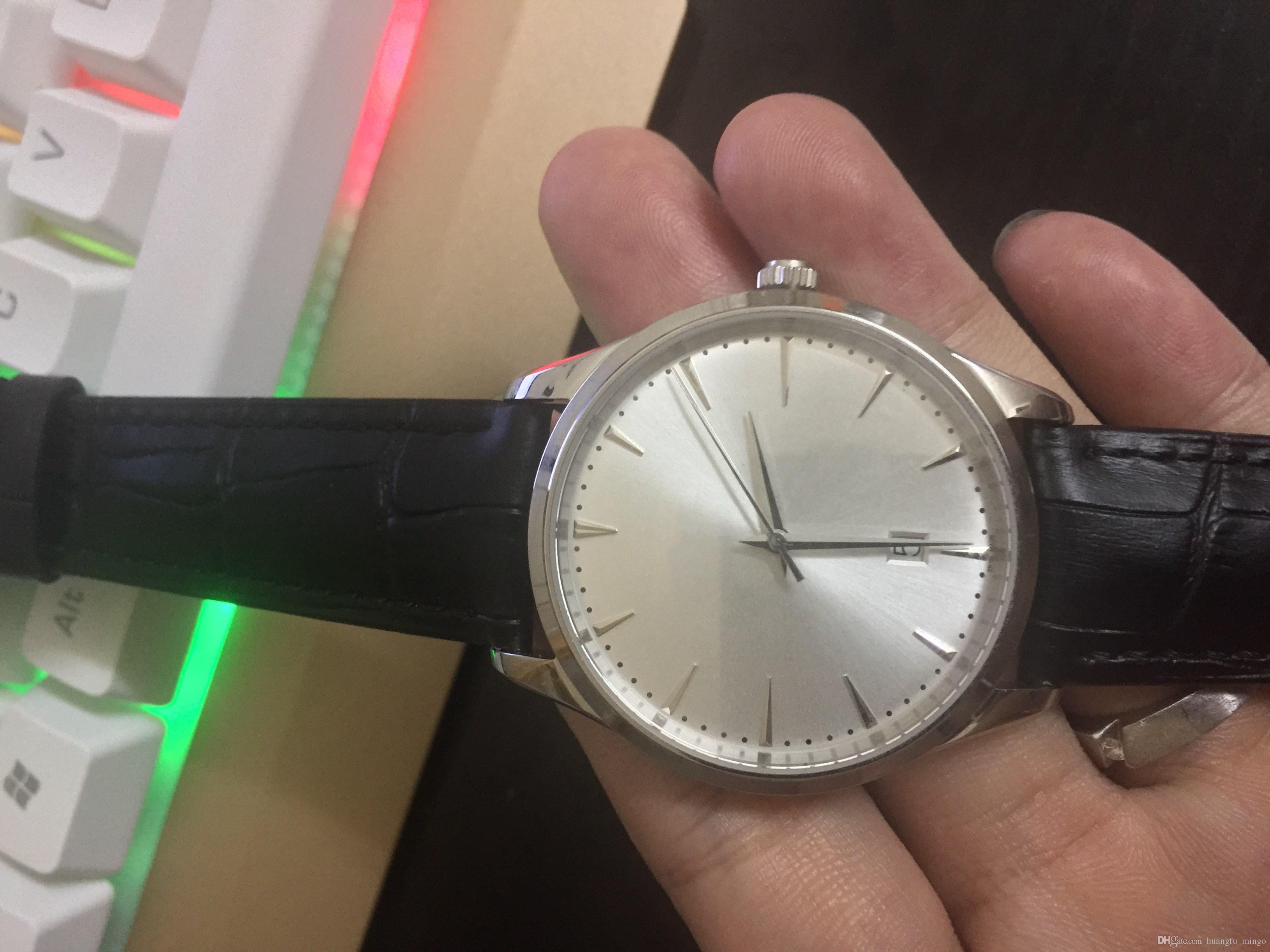 0c40be1d295 Compre Homens De Negócios Clássico Marca De Luxo Relógio À Prova D  água  Pulseira De Couro Vidro De Safira 9015 Relógios De Pulso Movimento Para O  Sexo ...
