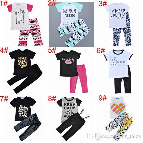 c27b589f97ea Summer 2017 Baby Boutique Clothing Sets Baby Clothes Girls Ruffle ...