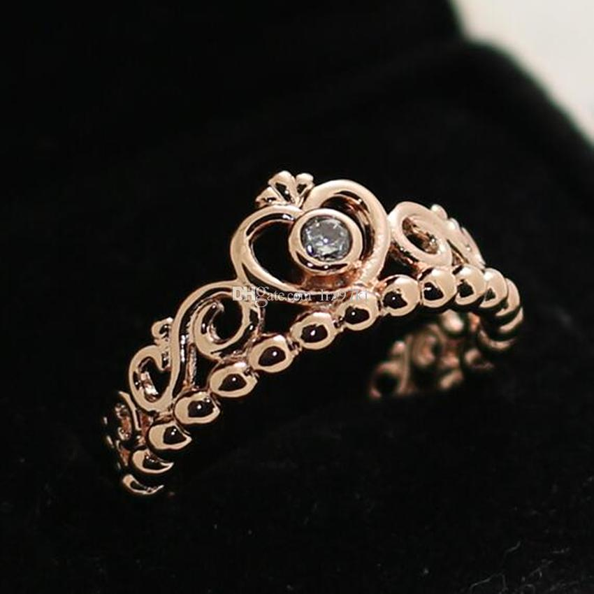 plated product buy or princess gold ring detail crown rings rose