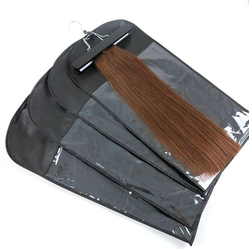 Устройства волос Упаковка Пакет Упаковка пылезащитный костюм Сумки для упаковочного костюма Для упаковочных зажима Удлинение волос Волосы Wefts Профессиональные инструменты