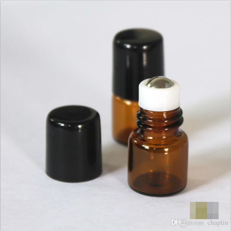1b332c642b3e Essential Oil Glass Roller Bottles Mini Tiny Refillable Empty Aromatherapy  Perfume Liquid Amber Glass Roll On Bottles Vials Metal Rollerball