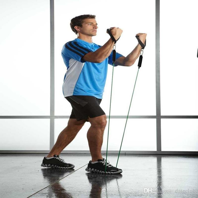 Deportes al aire libre Látex Bandas de resistencia Ejercicio de ejercicio Pilates Yoga Crossfit Fitness Tubes Tire de la cuerda / set