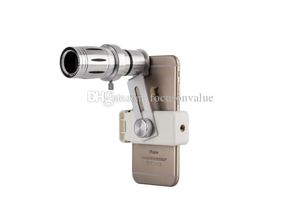 Universal 12x Zoom Phone Camera Lenses Telephoto Optical Lens Telescope Clips Mobile Tripod For iPhone 5s 6 6s 7 Plus Xiaomi