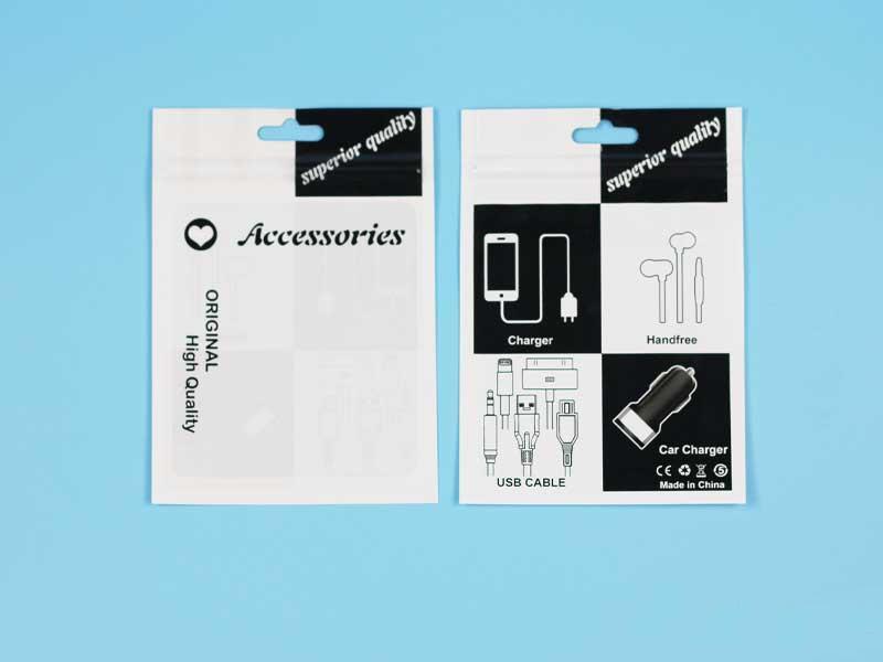 Plástico Acessórios de varejo Embalagem Sacos furo Mão Embalado Zipper Poly OPP PVC caixas de embalagem 10.5 * 15cm para Celular