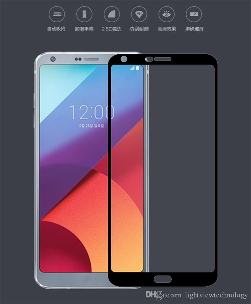 Для LG Stylo 5 3 4 Plus G8 Q6 Aristo 2 ZTE Blade Zmax Pro Max XL Prestige 2 Закаленное стекло Полноэкранный с защитой от взрыва с пакетом