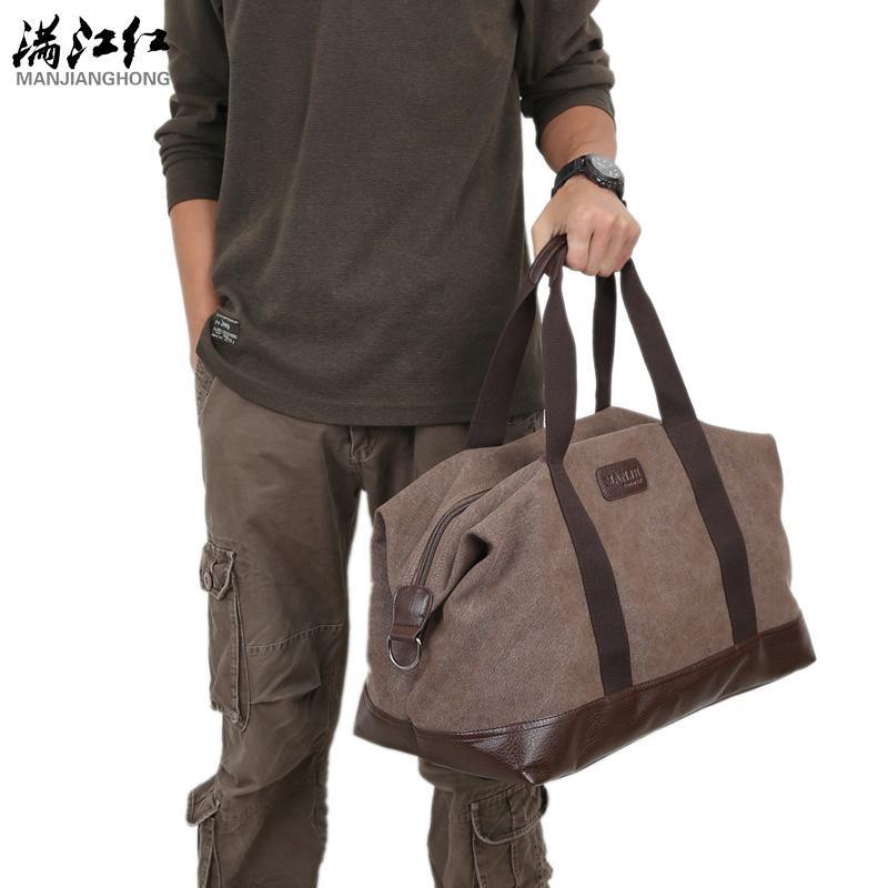 8034aff450b3 Wholesale- Casual Vintage Men Messenger Bag Fashion Canvas Solid Unisex  Large Capacity Travel Tote Cross-body Classic Handbag Vintage Men Handbag  Travel ...