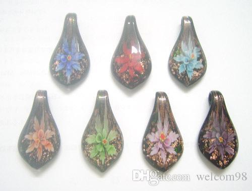 10 teile / los Multicolor Murano Glas Anhänger Für DIY Handwerk Modeschmuck Geschenk Freies Verschiffen PG10