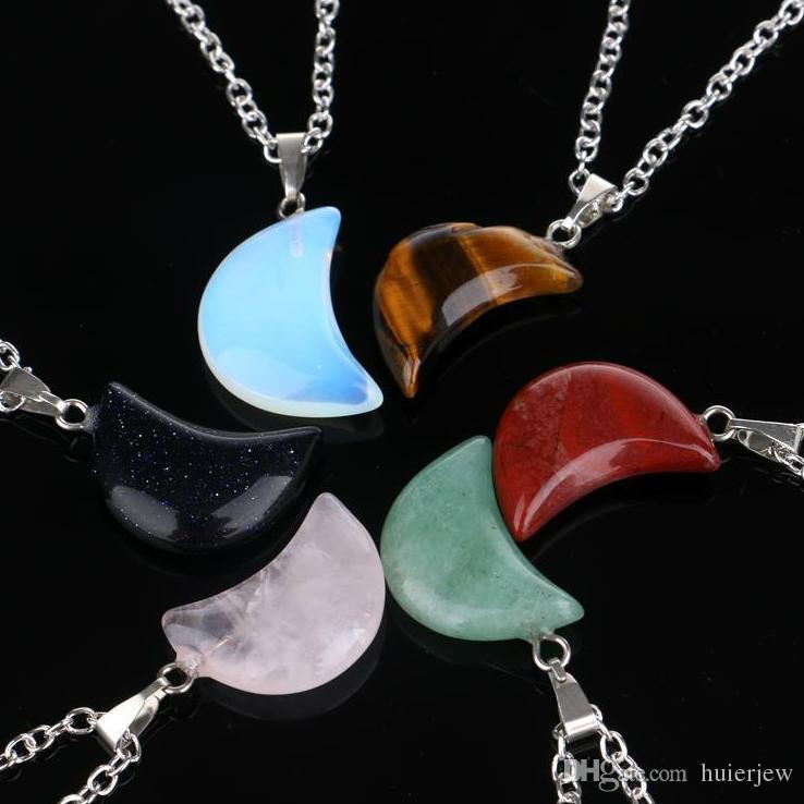 Collier bijoux pas cher cristaux de guérison améthyste rose quartz perle chakra ponte de guérison femmes hommes hommes naturels pendentifs en cuir colliers en cuir