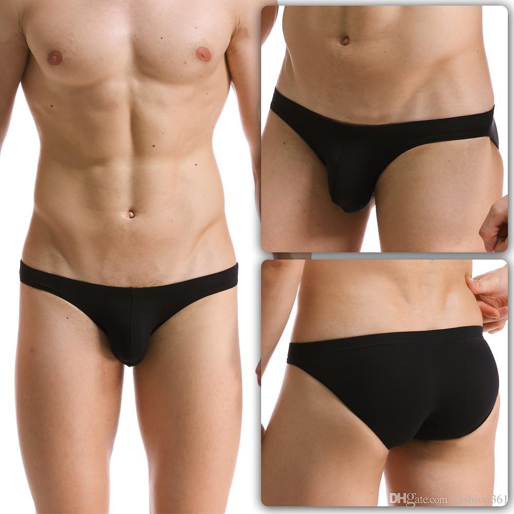 Slip Männer 4 STÜCKE Niedrige Taille Heiße Unterwäsche Sexy Transparente Kurze Seemless Silk Herren Slips Unterhose Herren Nylon Bikini
