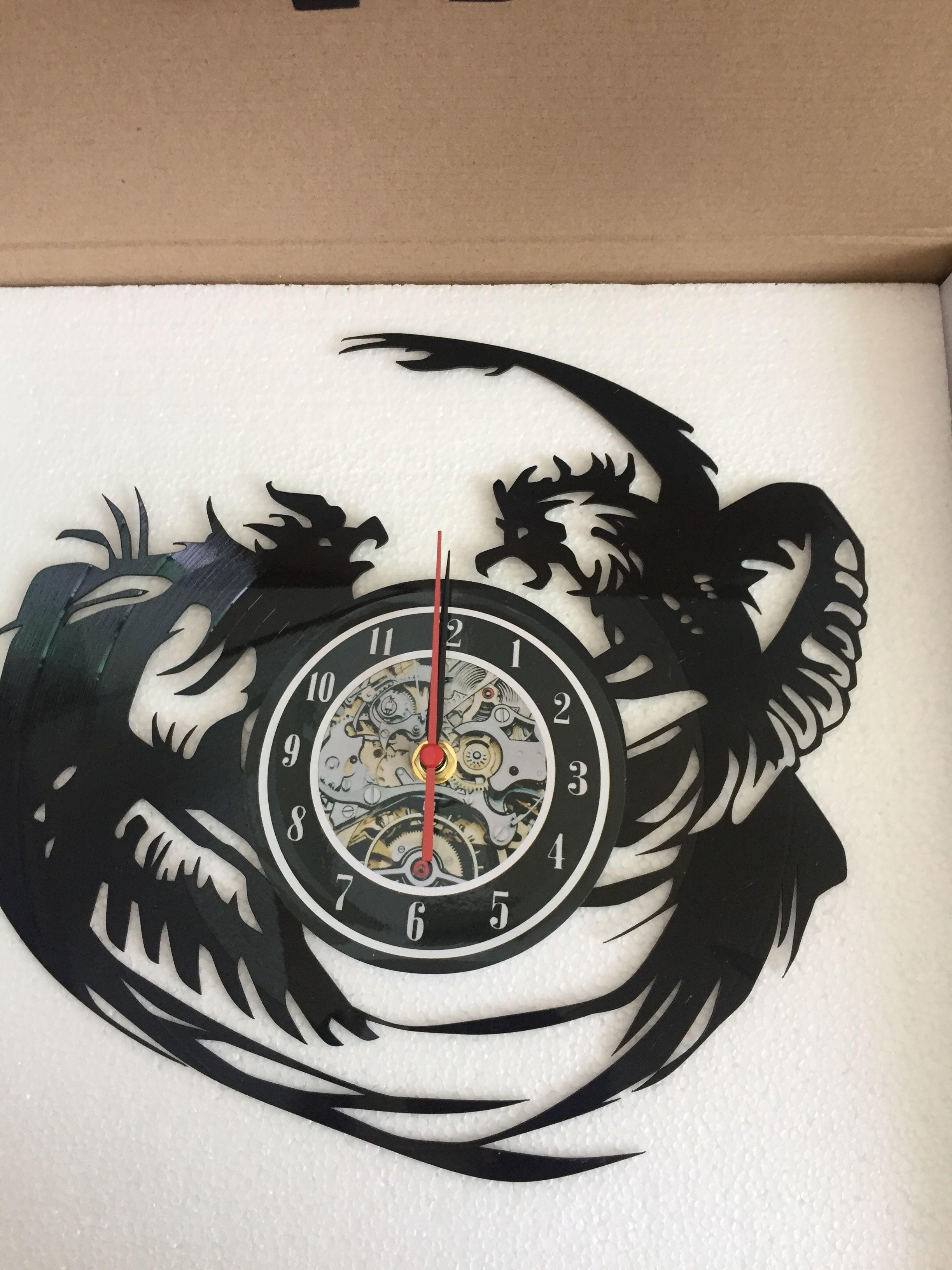 Großhandel Zwei Adler Vinyl Wanduhr Geschenke Balck, 2018 New Style ...
