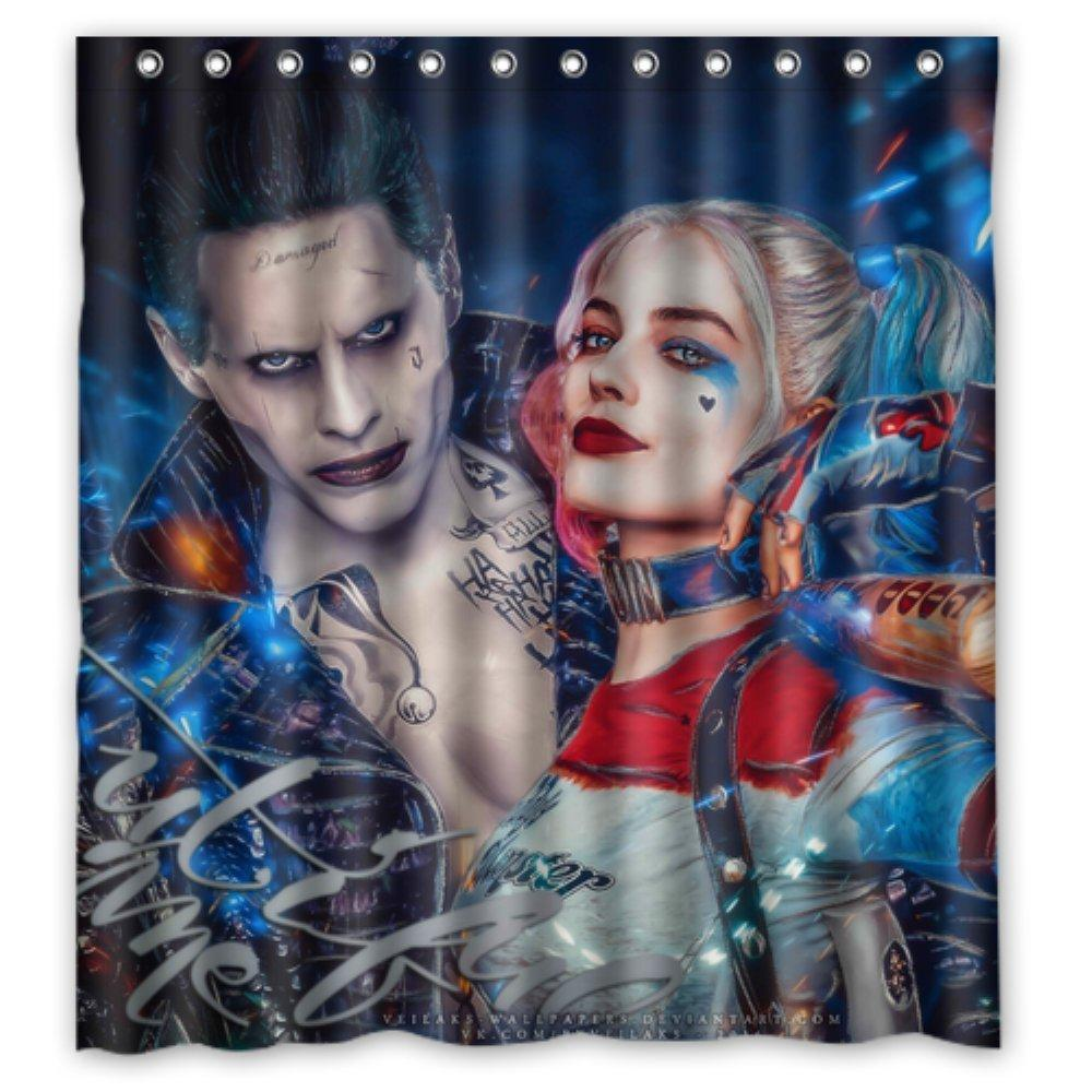 Harley Quinn And Joker Suicide Squad Waterproof Fabric Custom Shower Curtain 66 X 72 Online With 4371 Piece On Littleman913s Store