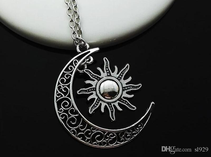 Europe And The United States Necklace Movie Of Ice And Fire Around My Life The Moon, The Sun And Stars Pendants Alloy Necklace