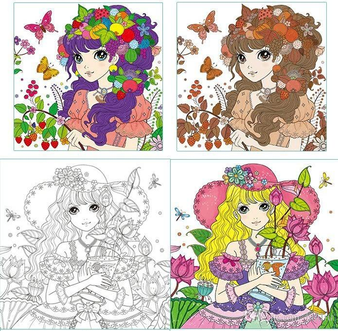 Princess Secret Garden Coloring Book Children Adult Relieve Stress Kill Time Graffiti Painting Drawing Antistress Books Paperproducts Design Paper