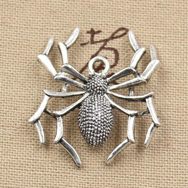 2019 Wholesale 99Cents Charms Spider Halloween 3532mm Antique Making Pendant FitVintage Tibetan SilverDIY Bracelet Necklace From Lovesongs