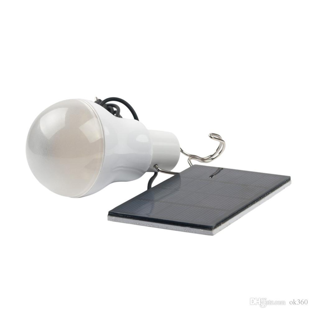15W 130LM Portable énergie solaire LED lampe ampoule panneau solaire Applicable Éclairage extérieur camp tente de pêche lampe de jardin lumière