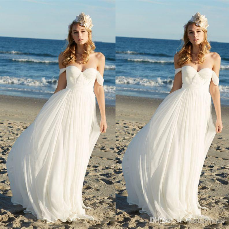Discount Designer Wedding Gowns: Discount 2017 Cheap Summer Beach Wedding Dresses Designer