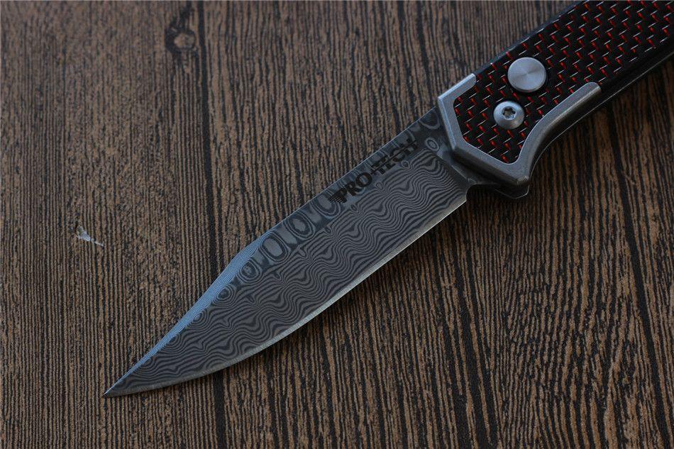 Miker Protech складной нож лезвие дамасской стали углеродного волокна ручка открытый кемпинг охота карманный фруктовый нож EDC инструменты, Бесплатная доставка