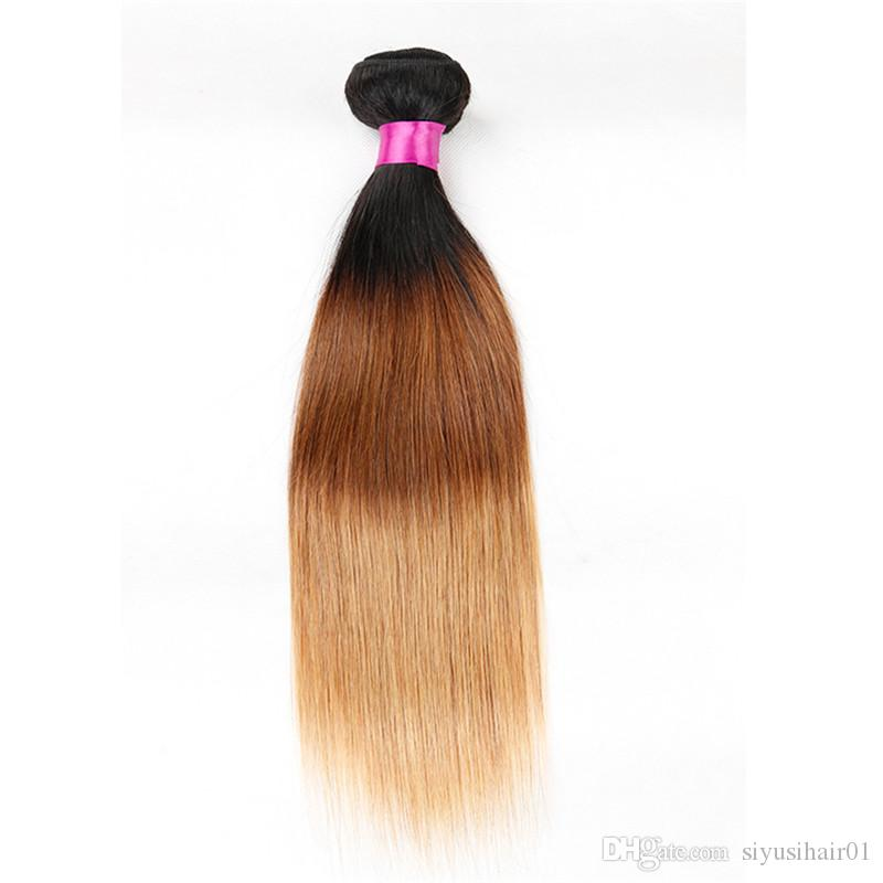 Cheveux raides vierges malaisiens de Bourgogne tisse des faisceaux 1B / 27 1B / 4/27 1B / 99j 1B / 30 1b / extensions de cheveux humains rouges