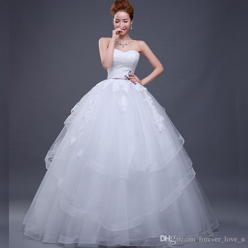 d1c246ed52b 2018 Princess Wedding Dress From China Strapless Sweetheart Layers Tulle  Skirt Wedding Gowns Corset Back Bridal Dresses Floor Length Canada 2019 From  ...