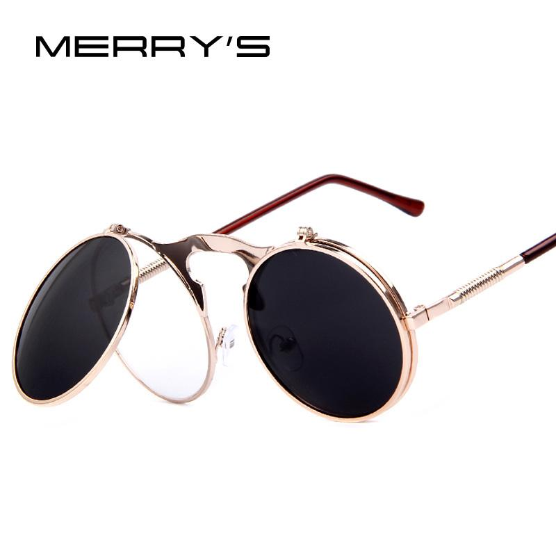 Wholesale Merry'S Vintage Steampunk Sunglasses Round ...