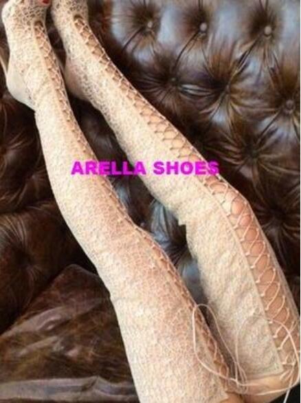 2017 женщины по колено высокие гладиатор летние сапоги тонкий каблук черные кружевные пинетки бедра высокие высокие сапоги туфли с открытым носком туфли