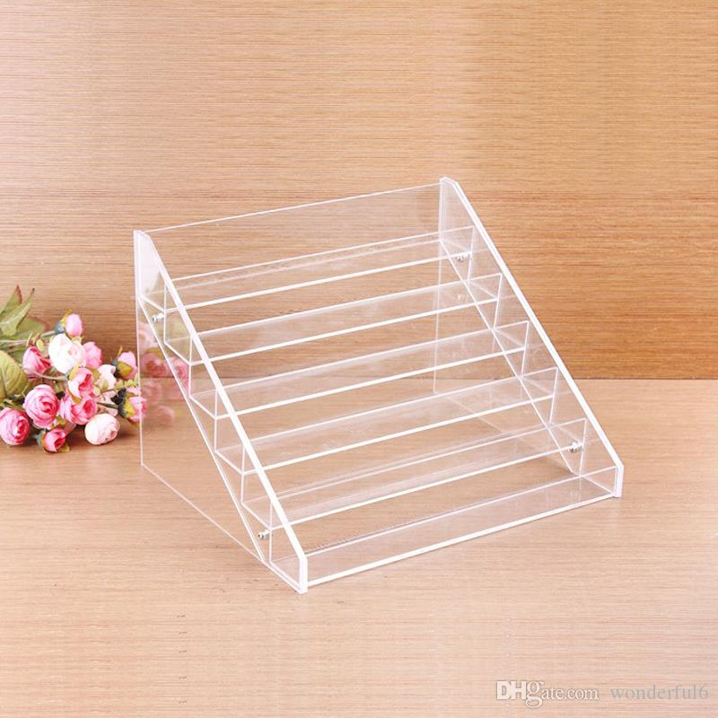 High-grade Clear Acrylic Nail Polish Rack Makeup Organizer Women Cosmetic Tools Storage Shelf Lipstick Holder Jewelry Container
