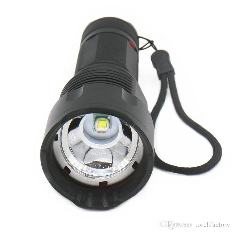 Waterproof 8000LM XM-T6 Zoom led flashlight Lantern Zoomable Torch hunting Torches lighting Lamp light 26650 battery charger box