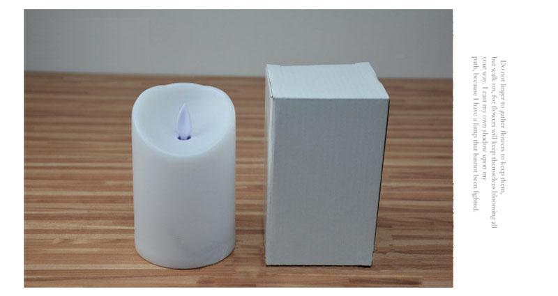 """3"""" * 4.5"""" Ivory Wax Flameless Moving Wick LED Candle For Wedding Bars Party Home decoration"""