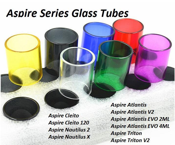 Replacement Glass Tubes for Aspire Atlantis EVO 2ML 4ML Triton 2 Mini Nautilus X 2 Cleito 120 Tank DHL FREE