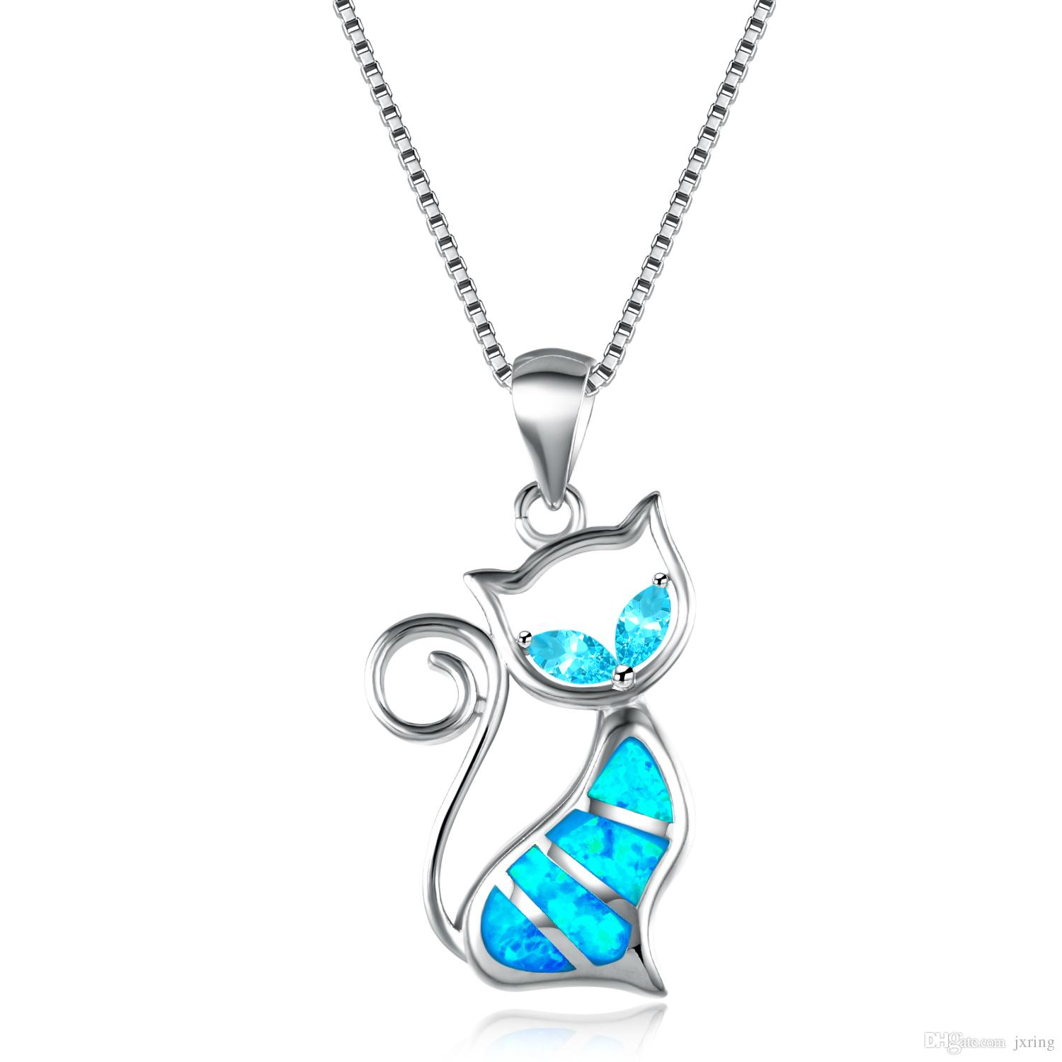 ace necklace cat gems necklaces home inspired product crystal